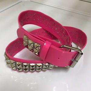 Unisex Pink Studded Punk Rock Belt